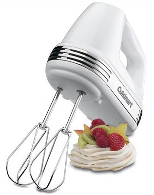 Power Advantage 7-Speed Hand Mixer, Stainless and White