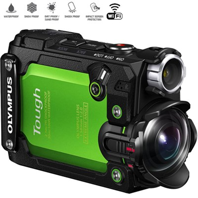 Stylus TG-Tracker 4K Action Cam Water/Shock-proof (Green) Certified Refurbished