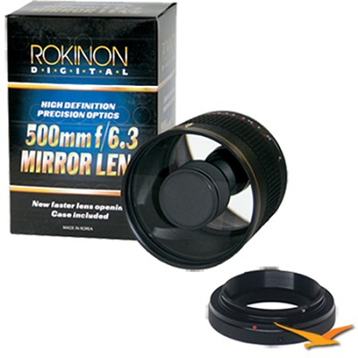 500mm F6.3 Mirror Lens for Olympus / Panasonic (Black Body) - ED500M-B