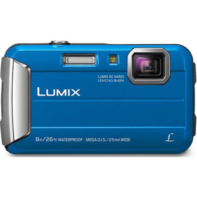 LUMIX DMC-TS30 Active Lifestyle Tough Blue Digital Camera - OPEN BOX