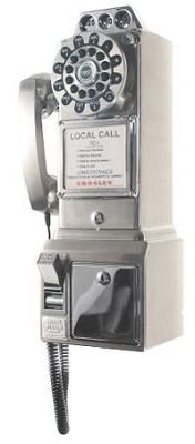 1950's Style Nostalgia Pay Phone - CR56-BC (Brushed Chrome)