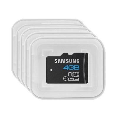 4GB Micro SDHC Class 4 Memory Card in Bulk Packaging - 5 Pack