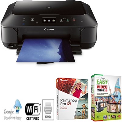 Pixma Wireless Color Photo Printer w/ Scanner & Copier + Corel Paintshop Pro X7