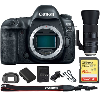 EOS 5D Mark IV CMOS DSLR Camera Body 4K Video+ 150-600mm USD Zoom Lens Kit