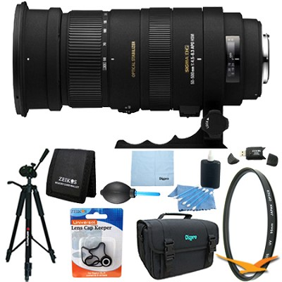 APO 50-500mm F4.5-6.3 DG OS HSM f/ Canon EOS Lens Kit Bundle