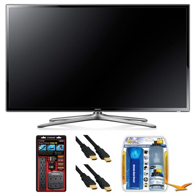 UN46F6300 46` 120hz 1080p WiFi LED Slim Smart HDTV Surge Protector Bundle