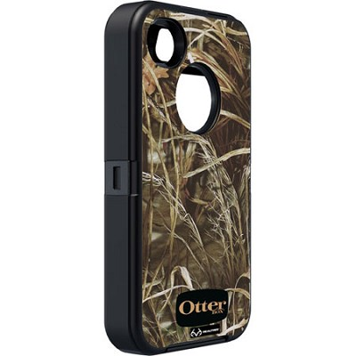 OB iPhone 4/4S Defender - Black / Max 4 Camo Pattern