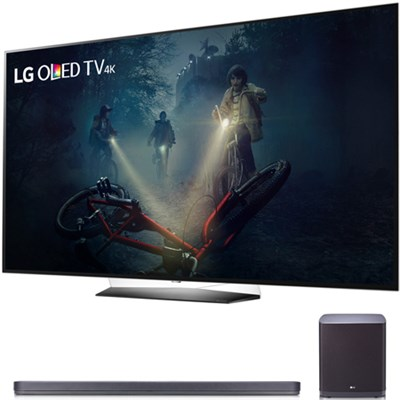 B7A Series 65` OLED 4K HDR Smart TV 2017 Model with SJ9 Sound Bar