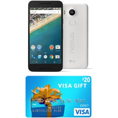 H790 Google Nexus 5X 16GB Unlocked Smartphone - Quartz (Gift Card Promo Expired)