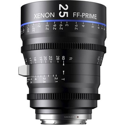 25MM Xenon Full Frame 4K Prime XN 2.1 / 25 Feet Lens for Sony E Mounts