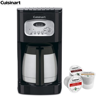 10-Cup Programmable Thermal Coffeemaker (Refurbished) w/Asst K Cup Sample Pack