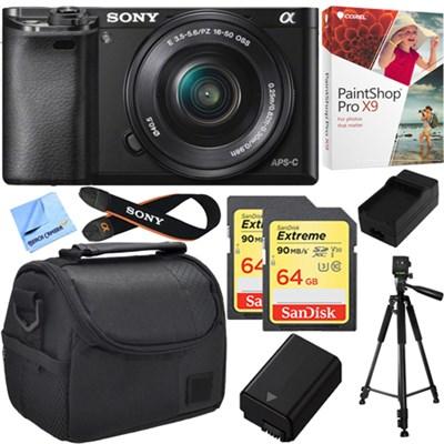Alpha a6000 24.3MP Mirrorless Camera w/ 16-50mm Bundle Deal