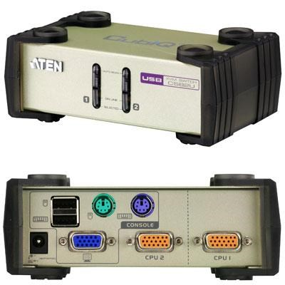 2-Port PS/2 USB VGA KVM Switch - CS82U
