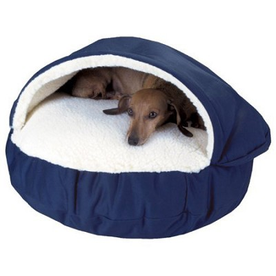 Cozy Cave Bed Dog Bed Hideaway - Navy