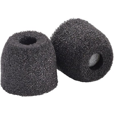 SX-500 Sport Plus Earphone Tips (Small, Black, 2-pair)