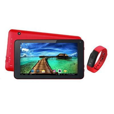 7` Tablet and Red Fitband - SC-6207FITRD