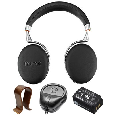 Zik 3 Wireless Noise Cancelling B.tooth Headphones Black Grain w/ Stand Bundle