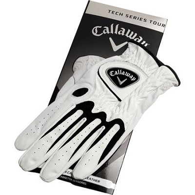 Tech Series Synthetic Leather White Golf Gloves - Medium Large 5310026