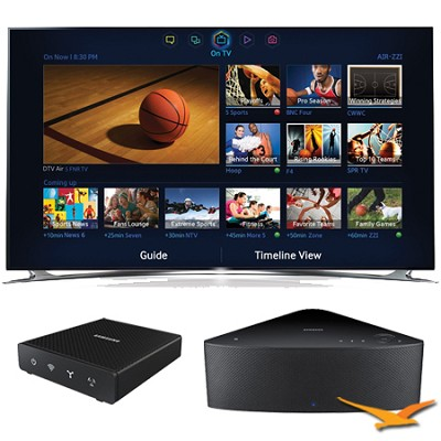 UN65F8000 - 65` 1080p 240hz 3D Smart LED HDTV with SHAPE Audio Bundle - Black