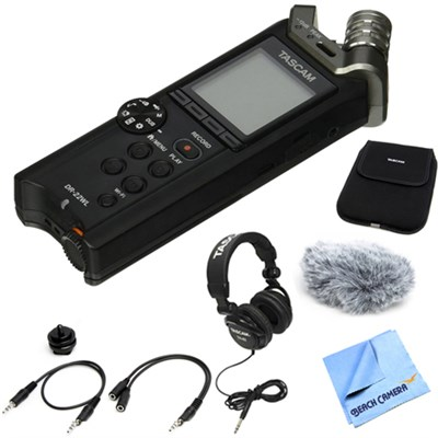 Portable Handheld Recorder w/ WiFi & Microphones with Accessory Bundle