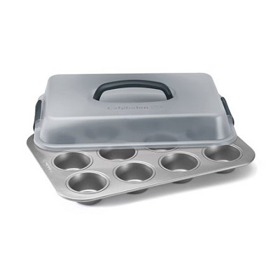 12-c. Nonstick Bakeware Covered Cupcake Pan - 1826142