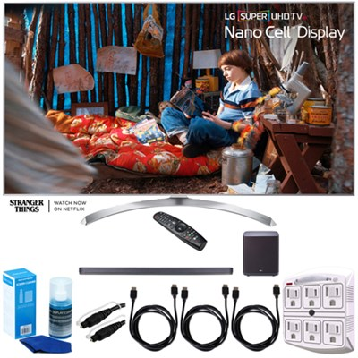SUPER UHD 60` 4K HDR Smart LED TV (2017 Model) w/ LG SJ9 Sound Bar Bundle