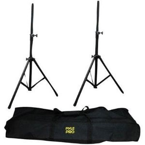 PSTK103 2x Heavy Duty Aluminum Speaker Stands with Travel Bag