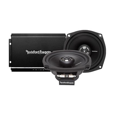 R1-HD2-9813 2 Channel Amp And Speaker Kit for Motorcycles