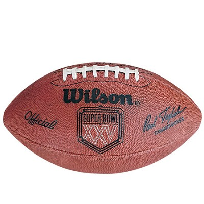 Super Bowl XXV Official Game Ball Football