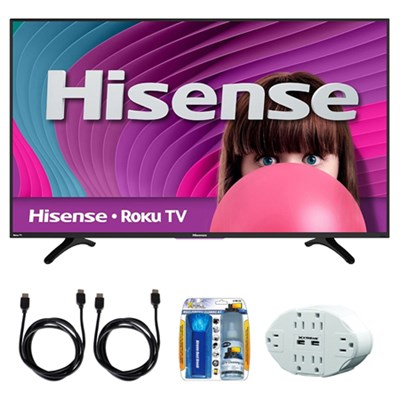 H4 48` Class 60Hz Full HD 1080P ROKU Smart LED TV w/ accessory bundle