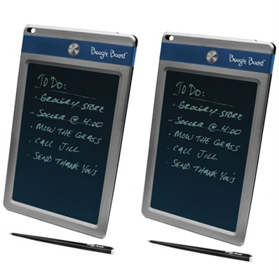 2-Pack Jot 8.5` LCD eWriter Blue Accent - Electronic Notepad Club Sleeve Bundle
