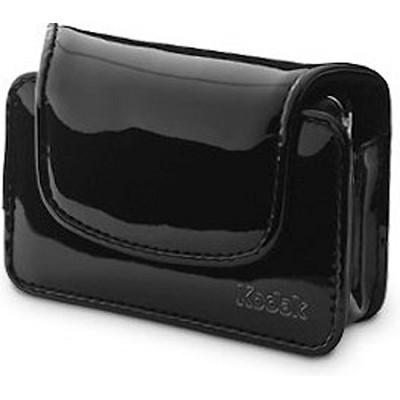 Chic Patent Leatherette Camera Case - Black
