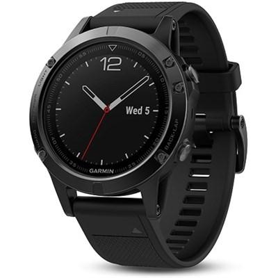 Fenix 5 Sapphire Multisport 47mm GPS Watch - Black with Black Band