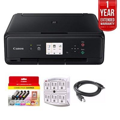 PIXMA TS5020 Black Wireless Inkjet All-In-One Printer + 1 Year Extended Warranty