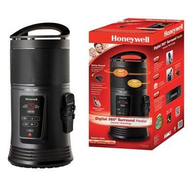 Ceramic Surround Heat Whole Room Heater w/ Remote Control - HZ-445R