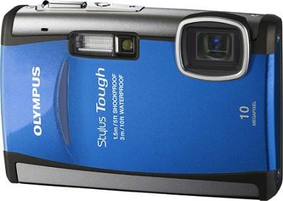 Stylus Tough 6000 10MP 2.7` LCD Digital Camera (Blue) - REFURBISHED