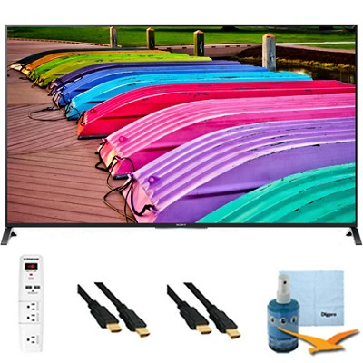 XBR49X850B - 49-Inch 4K Ultra HD 120Hz 3D LED TV Plus Hook-Up Bundle