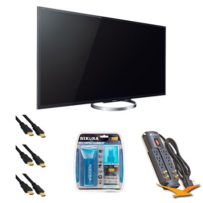 XBR65X850A 65-Inch 4K Ultra HD 120Hz 3D LED HDTV Surge Protector Bundle