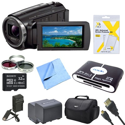 HDR-PJ670 Full HD 60p Camcorder w/ Built-In Projector Bundle