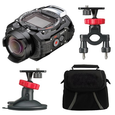 WG-M1 Compact Waterproof Action Digital Camera Action Pack - Black