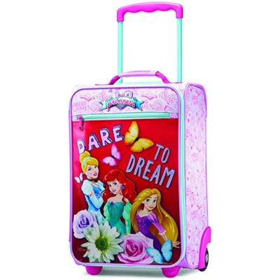 18` Upright Kids Disney Themed Softside Suitcase (Princess)