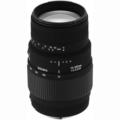 70-300mm f/4-5.6 DG Macro Telephoto Zoom Lens for Minolta and Sony SLR Cameras