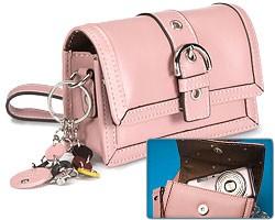 Pink Leather Fashion Camera Clutch  -8807190
