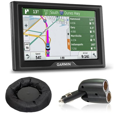 Drive 50LMT GPS Navigator (US and Canada) Charger + Friction Mount Bundle