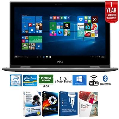 i5578-2451GRY Inspiron 15.6` Intel i5-7200U Laptop+Software+Warranty