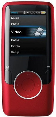 Red MP3 Video Player with 1.8` Display, 4 GB Flash Memory & FM