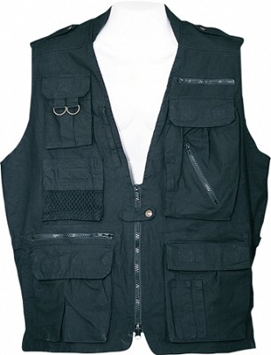 Safari Vest - Black, Medium