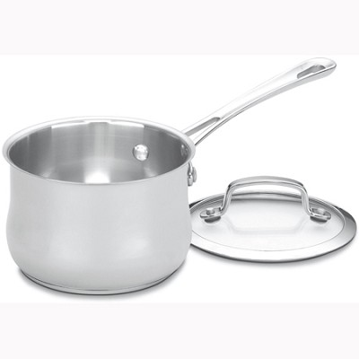 Contour Stainless 1-Quart Saucepan with Cover - 419-14