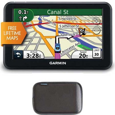 50LM 5 inch Touchscreen GPS with Lifetime Map Updates + Bonus Nuvi 5` Case