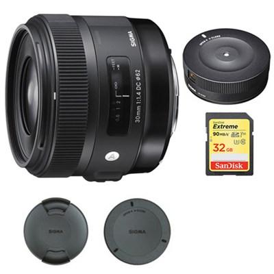 30mm F1.4 ART DC HSM Lens for Canon Digital SLR Cameras w/ USB Dock Bundle